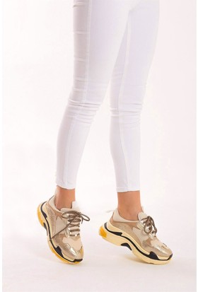 Fox Shoes Dore Ten Bej Kadın Sneakers D592410114