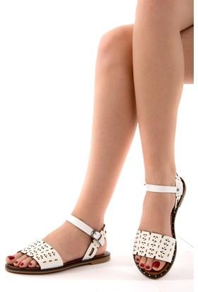 Fox Shoes Beyaz Kadın Sandalet D641671009