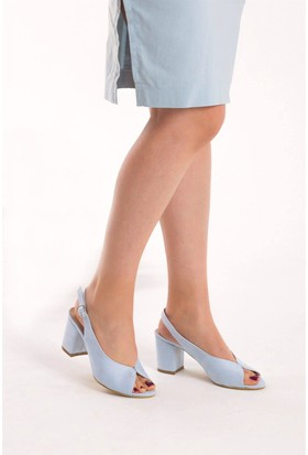 Fox Shoes Mavi Kadın Topuklu Sandalet D643202002
