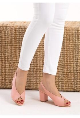 Fox Shoes Pembe Kadın Topuklu Sandalet D643202002