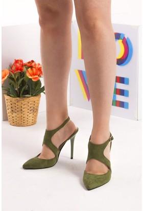 Fox Shoes Yeşil Kadın Topuklu Ayakkabı D643202702