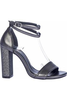 Fox Shoes Platin Kadın Topuklu Ayakkabı D654057614