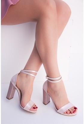 Fox Shoes Pudra Kadın Topuklu Ayakkabı D654057614