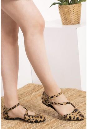 Fox Shoes Leopar Kadın Babet D726016902