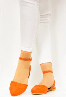 Fox Shoes Turuncu Kadın Babet D726226202