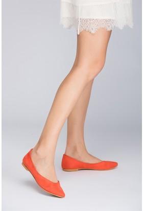 Fox Shoes Turuncu Kadın Babet D726460402
