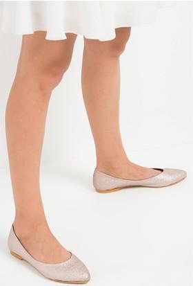 Fox Shoes Pudra Kadın Babet D726460446