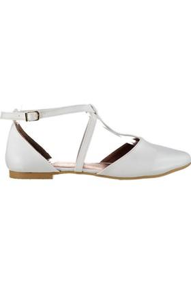 Fox Shoes Beyaz Kadın Babet D726537309