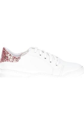 Fox Shoes Beyaz Bakır Kadın Sneakers D735636009