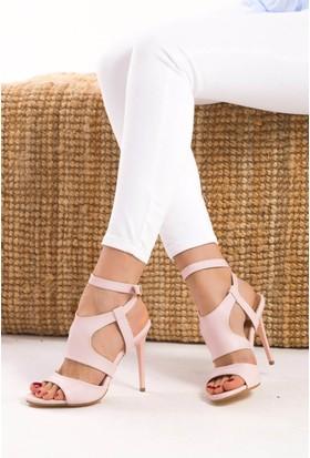 Fox Shoes Pudra Kadın Topuklu Ayakkabı D752020509