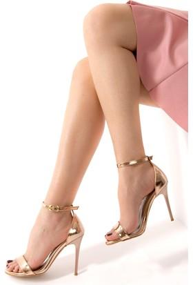 Fox Shoes Bronz Kadın Topuklu Ayakkabı D752114434