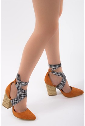 Fox Shoes Turuncu Kadın Topuklu Ayakkabı D758264402