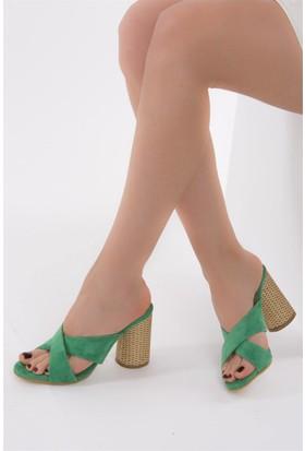 Fox Shoes Yeşil Kadın Terlik D758273002