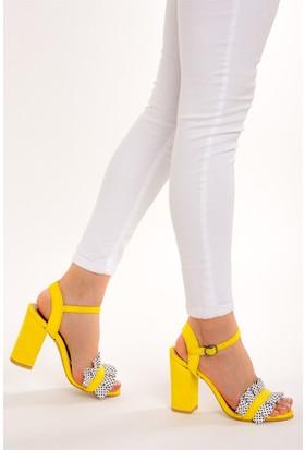 Fox Shoes Sarı Kadın Topuklu Ayakkabı D758295502