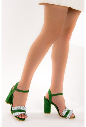 Fox Shoes Yeşil Kadın Topuklu Ayakkabı D758295502