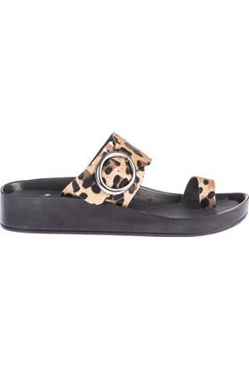 Fox Shoes Leopar Kadın Terlik D777822202
