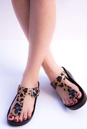 Fox Shoes Leopar Kadın Terlik D777831002