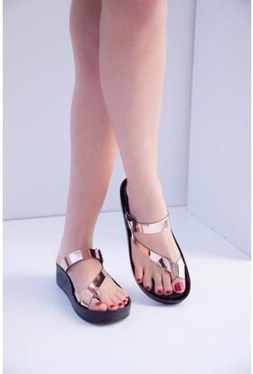 Fox Shoes Bakır Kadın Terlik D777853534