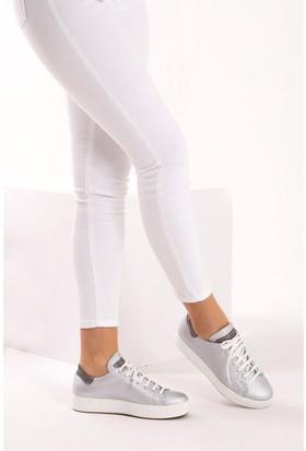Fox Shoes Gümüş Kadın Sneakers D820606009