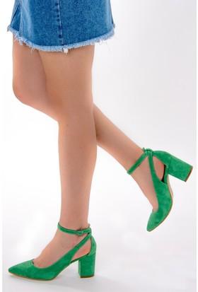 Fox Shoes Yeşil Kadın Topuklu Ayakkabı D922223602