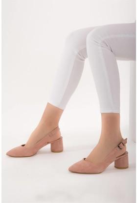 Fox Shoes Pudra Kadın Topuklu Ayakkabı D922244402