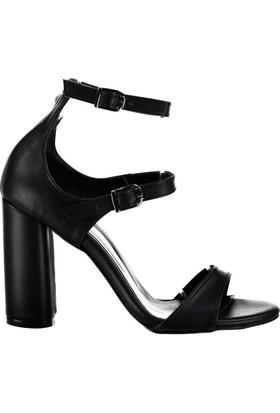 Fox Shoes Siyah Kadın Topuklu Ayakkabı D922278109