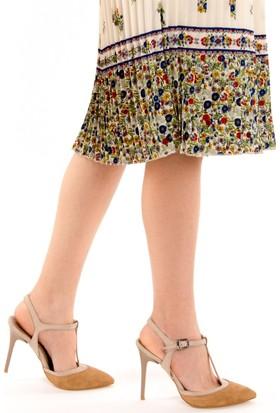 Fox Shoes CamelTen Kadın Topuklu Ayakkabı D922353502