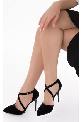 Fox Shoes Siyah Kadın Topuklu Ayakkabı D922354302