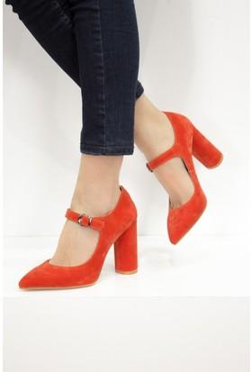 Fox Shoes Turuncu Kadın Topuklu Ayakkabı D922644002