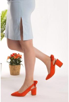 Fox Shoes Turuncu Kadın Topuklu Ayakkabı D922695302