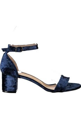 Fox Shoes Lacivert Kadın Topuklu Sandalet B922631039
