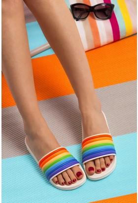 Fox Shoes Beyaz Multi Kadın Terlik D476000609