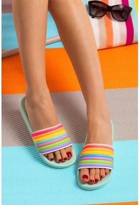 Fox Shoes YeşilMulti Kadın Terlik D476000609
