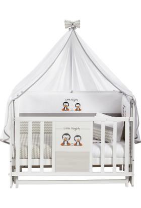 Baby Tech Desenli Ahşap Sallanır Beşik