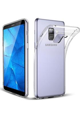 Case 4U Samsung Galaxy A6 Plus 2018 Silikon Kılıf Şeffaf