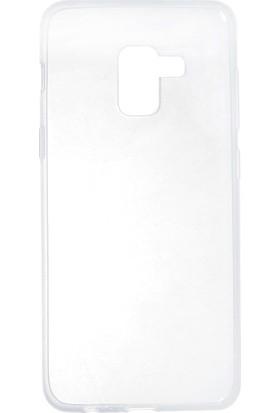 Case 4U Samsung Galaxy A8 Plus 2018 Silikon Kılıf Şeffaf