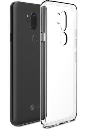 Case 4U LG G7 ThnQ Kılıf Sert Silikon Şeffaf