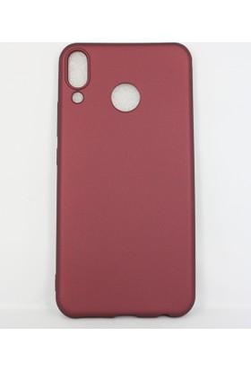Case 4U Asus Zenfone 5 Kılıf ZE620KL Mat Silikon Arka Kapak - Premier - Bordo