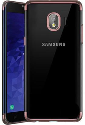 Case 4U Samsung Galaxy J4 Kılıf Silikon Arka Kapak - Glitter - Rose Gold