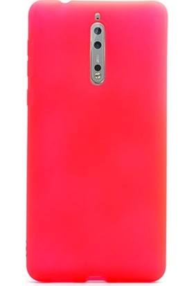 Case 4U Nokia 8 Kılıf Mat Silikon İnce Arka Kapak - Premier - Pembe