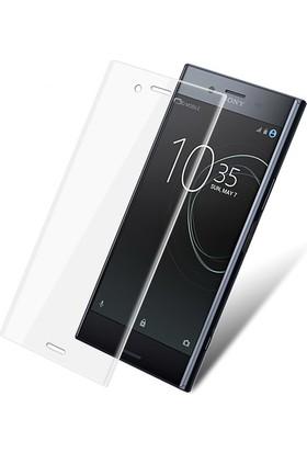 Case 4U Sony Xperia XZ Premium Tam Kaplayan Kavisli Ekran Koruyucu