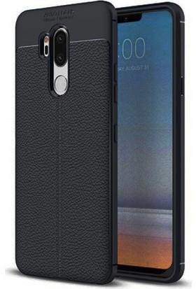 Case 4U LG G7 ThinkQ Kılıf Darbeye Dayanıklı Silikon Niss Kılıf - Siyah