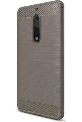 Case 4U Nokia 5 Kılıf Darbeye Dayanıklı Room Arka Kapak Gri