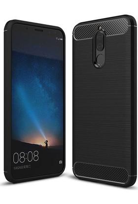 Case 4U Huawei Mate 10 Lite Kılıf Darbeye Dayanıklı Room Silikon Arka Kapak - Siyah
