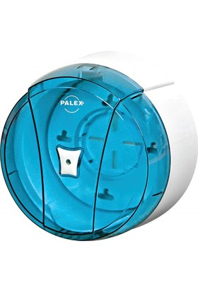 Palex 3440-1 Pratik Tuvalet Kağıdı Dispenseri Şeffaf Mavi