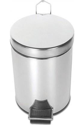 Palex 3700-308 Krom Pedallı Çöp Kovası 8 LT
