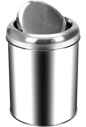 Palex 3822-12 Krom Pratik Kapaklı Çöp Kovası 12 LT