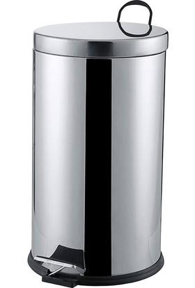Çelik Ayna CLK709 16 LT Pedallı Krom Çöp Kovası