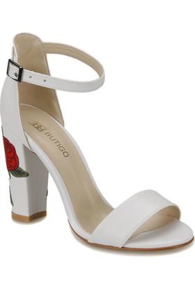 Butigo Lena*01Z Beyaz Kadın Sandalet