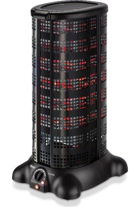 Fakir LS 2400 Estove Nano-Bor Teknolojili 2400W Konveksiyonel Elektrikli Fanlı Isıtıcı-Siyah